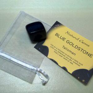 Blue Goldstone Tumble stone