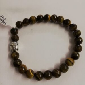 Elasticated Tiger's Eye Bracelet