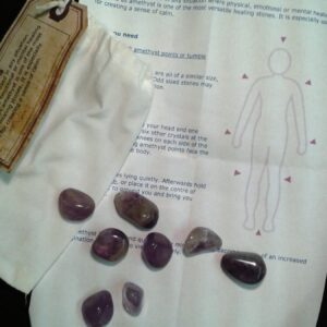 Amethyst crystal grid stones