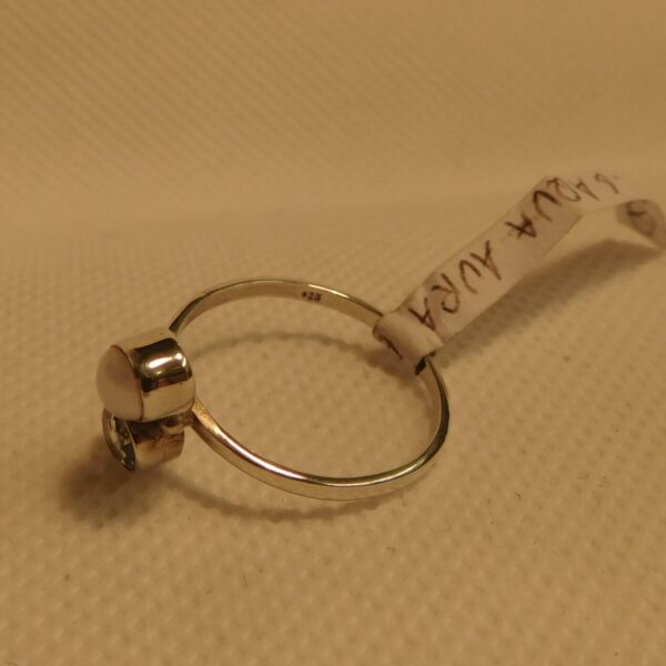 Aqua Aura and Pearl Ring