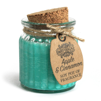 Apple and cinnamon soy candle jar