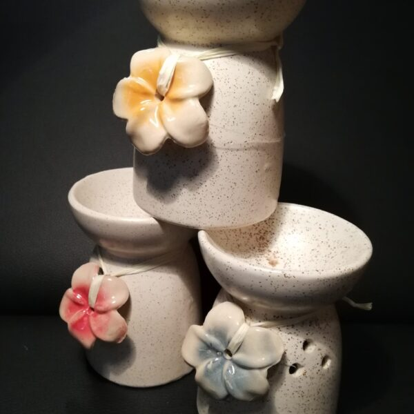 Ceramic Flower Oil Burner Group
