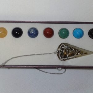 Chakra Crystals Interchangeable Cone Pendant