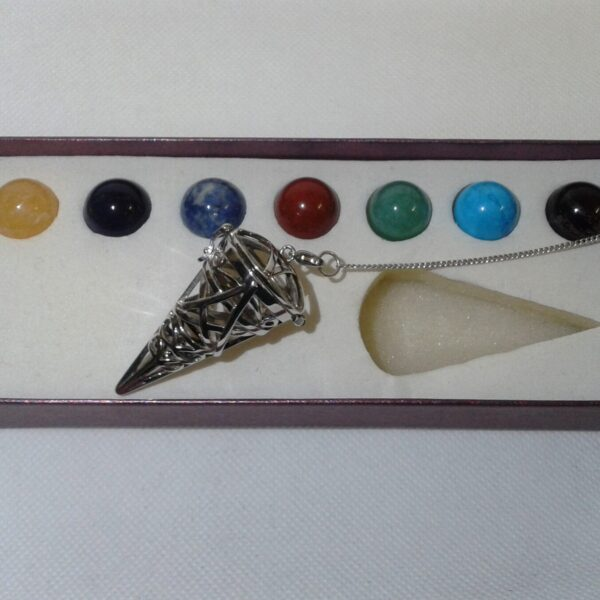 Chakra Crystals Interchangeable Cone Pendant