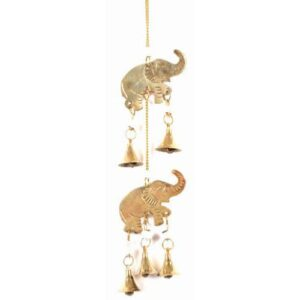Brass Elephant and bells chime