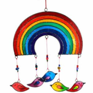 Rainbow with birds suncatcher