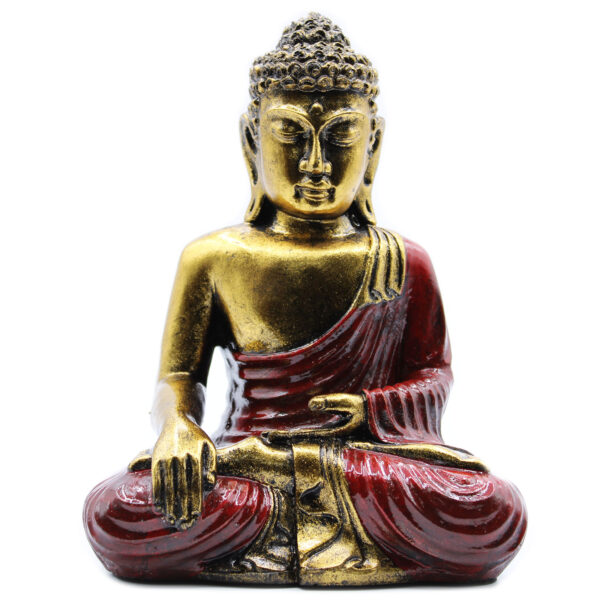 Red and Gold Sitting Buddha