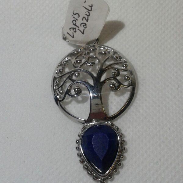 Lapis lazuli Crystal Tree of Life Pendants