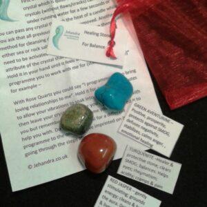 Balance crystal healing pack