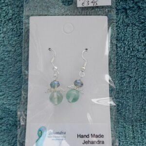 Angel Fluorite Crystal Earrings