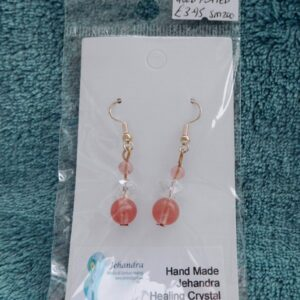 Cherry Quartz Crystal Earrings