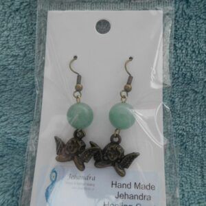 Cherub Charm Jade Crystal Earrings