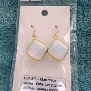 Cushion Opalite Crystal Earrings
