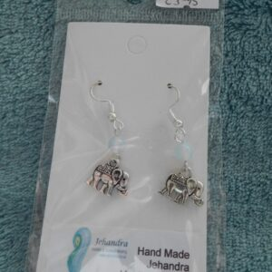 Elephant Opalite Crystal Earrings