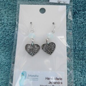 Heart Opalite Crystal Earrings