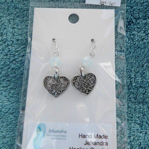 Heart Opalite Crystal Earrings