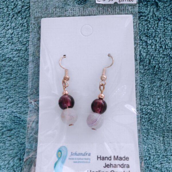 Opaque Amethyst Crystal Earrings