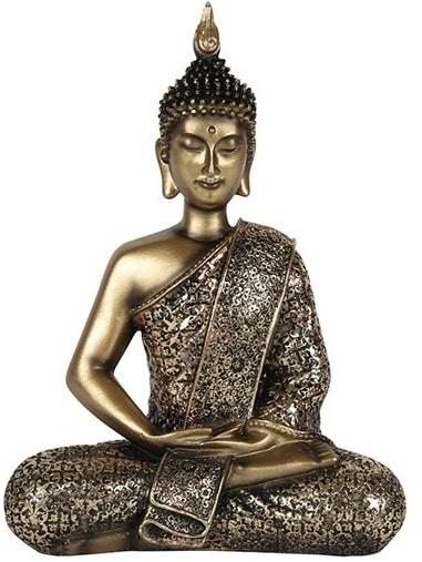 Gold Antique Sitting Buddha