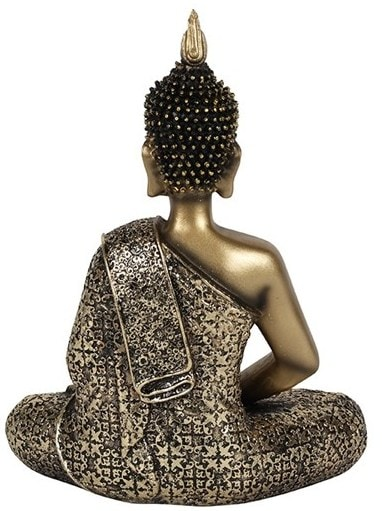Antique Gold Buddha with scarf